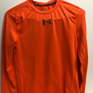 Brite Orange Under Armour Boys Size XL Baselayer